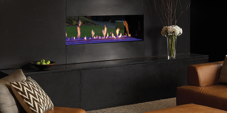 The Davinci Collection See Thru Linear Gas Fireplace Davinci