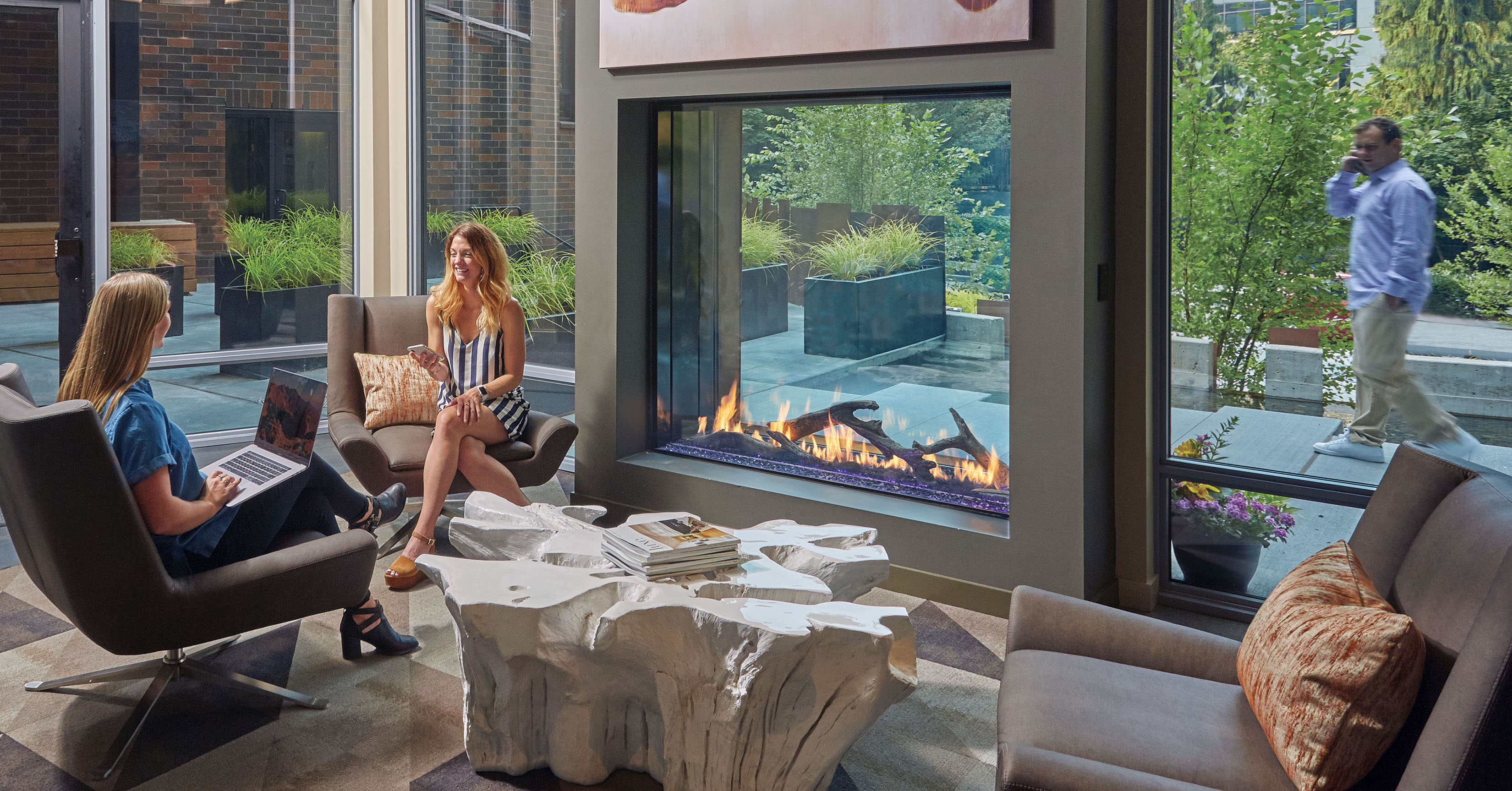 The Davinci Collection See Thru Linear Gas Fireplace