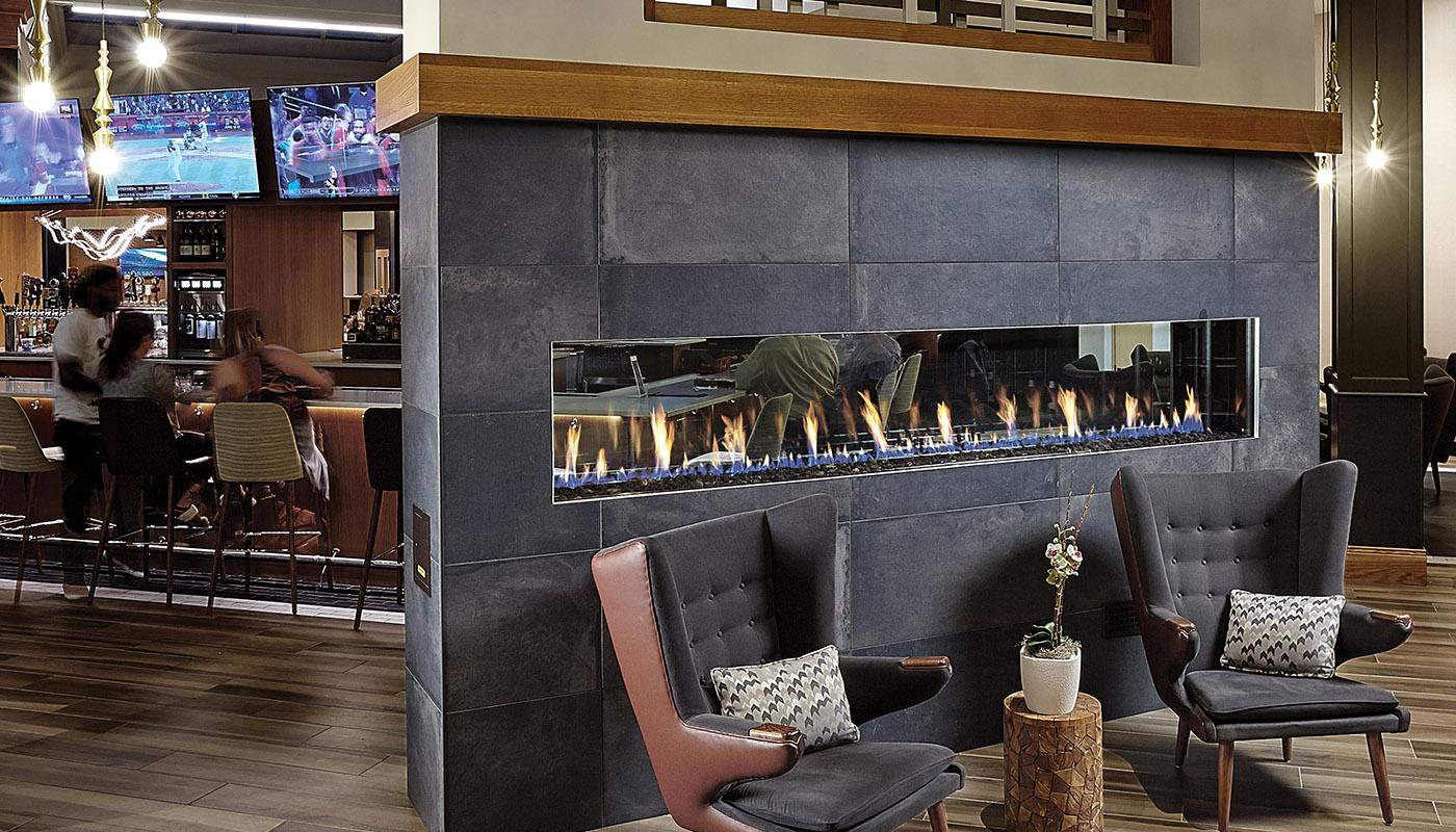 See-Thru Fireplace | Linear Gas Fireplace | Modern Gas Fireplace