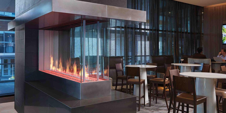 Pier Fireplace   Linear Gas Fireplace   Modern Gas Fireplace