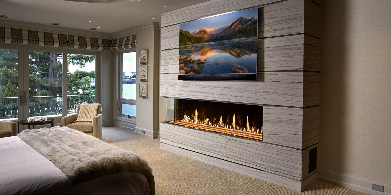 Corner Fireplace | Linear Gas Fireplace | Modern Gas Fireplace