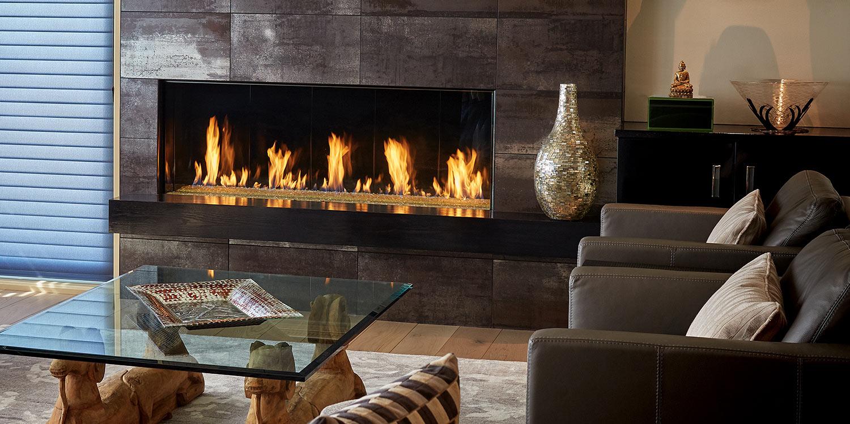 Single-Sided Fireplace | Linear Gas Fireplace | Modern Gas Fireplace